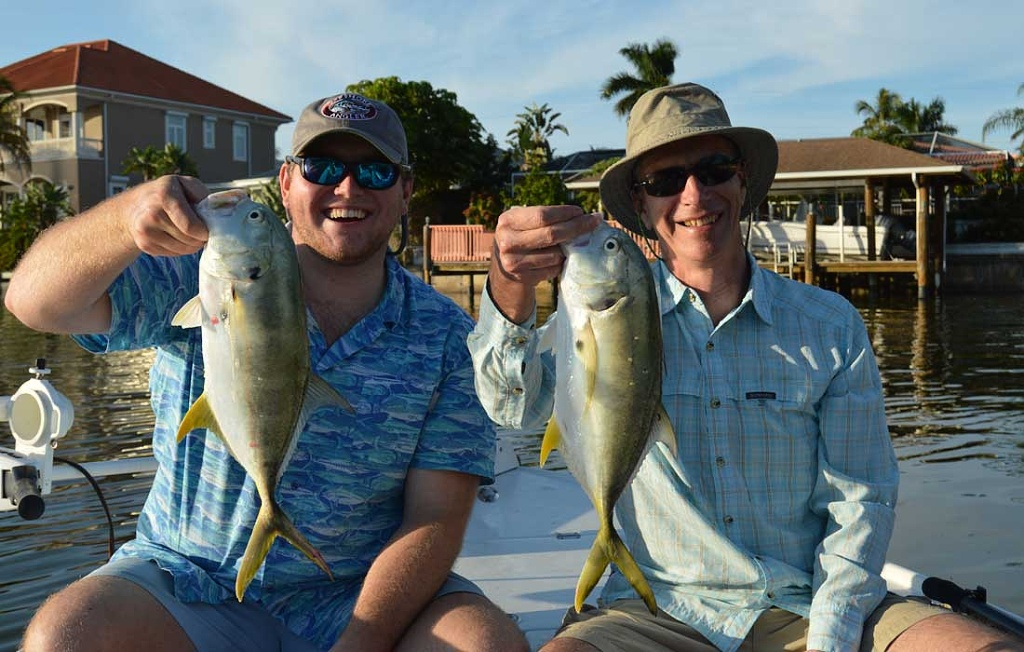 Bonita Springs Light Tackle Fishing Charters - A Double On Jacks
