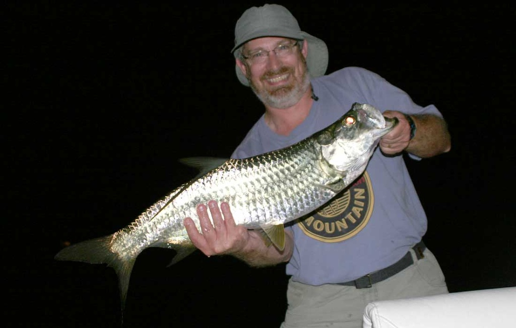 First Tarpon Caught At Night