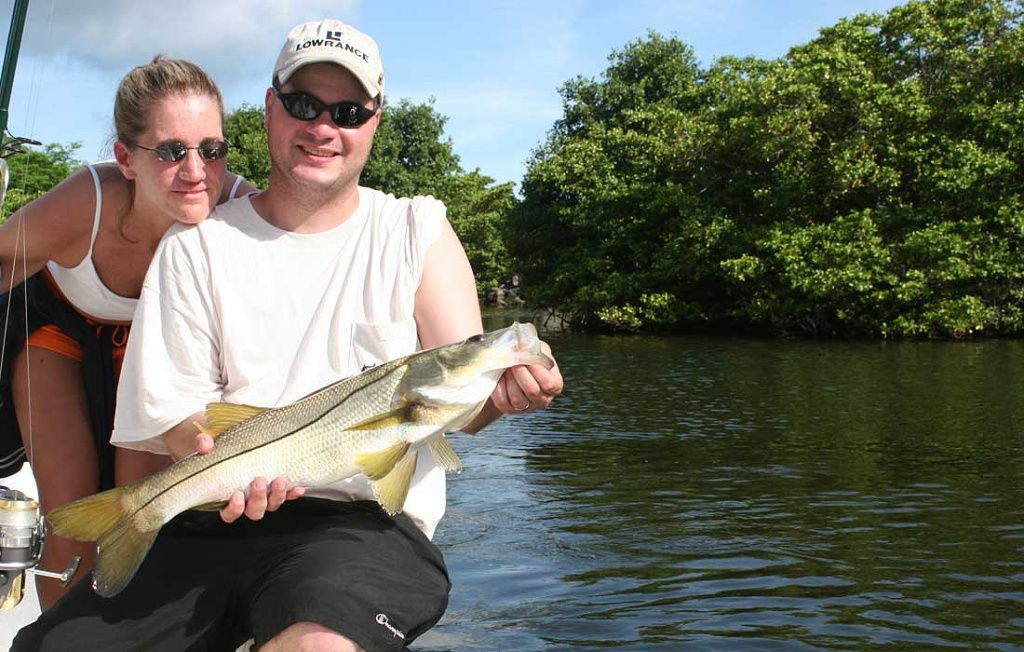 Hubby and New Wife With Snook